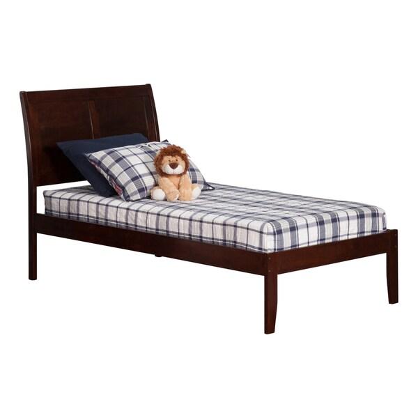 Portland Walnut Open Foot Twin XL-size Platform Bed