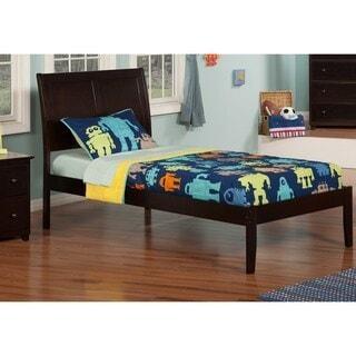 Atlantic Furniture Portland Espresso Twin XL Open Foot Be...