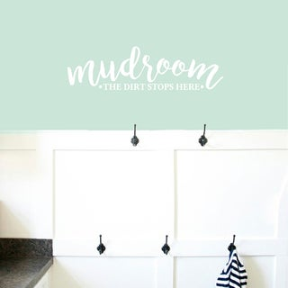 "Mudroom The Dirt Stops Here Wall Decals - 36"" wide x 10"" tall"
