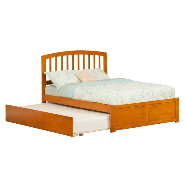 42517830cd61e Richmond Full Platform Bed with Flat Panel Foot Board and Twin Size Urban  Trundle Bed in