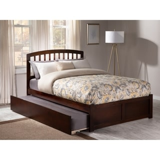 Atlantic Richmond Walnut Finish Full-size Bed With Foot Board and Trundle