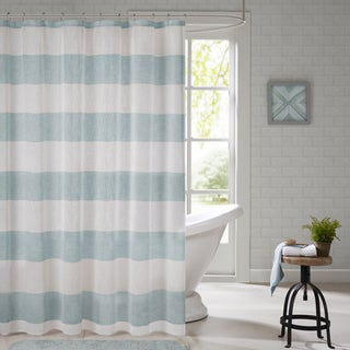 Urban Habitat Chapin Woven Shower Curtain 2-Color Option