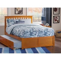 Mission Caramel Latte Full Flat Panel Foot Board With Urban Trundle