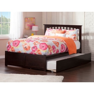 Atlantic Espresso Wood Full-size Mission-style Flat-panel Footboard With Urban Trundle Bed