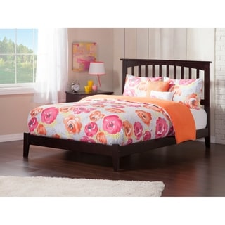 Mission Full Platform Bed with Open Foot Board in Espresso