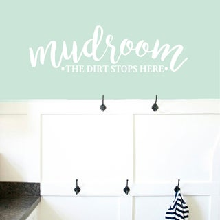 "Mudroom The Dirt Stops Here Wall Decals - 48"" wide x 14"" tall"