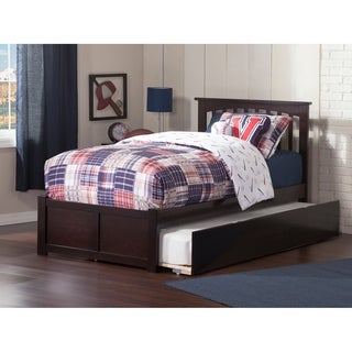 Mission Espresso Twin Flat Panel Foot Board with Urban Trundle Bed