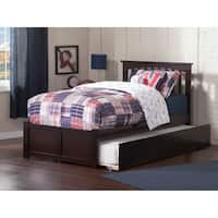 Mission Twin Platform Bed With Flat Panel Foot Board And Size Urban Trundle In