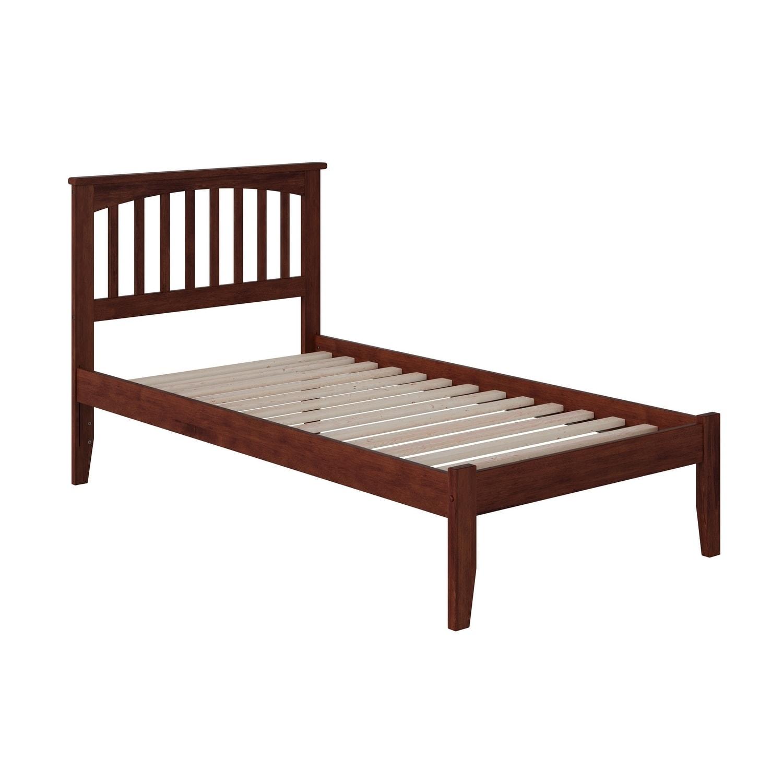 Atlantic Mission Walnut (Brown) Twin-size Open-foot Bed (...