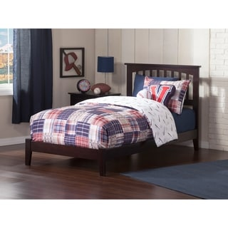 Atlantic Mission Espresso Twin-size Open-foot Platform Bed