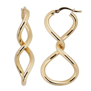 Fremada Italian 14k Yellow Gold Infinity Earrings, 1.5-inch
