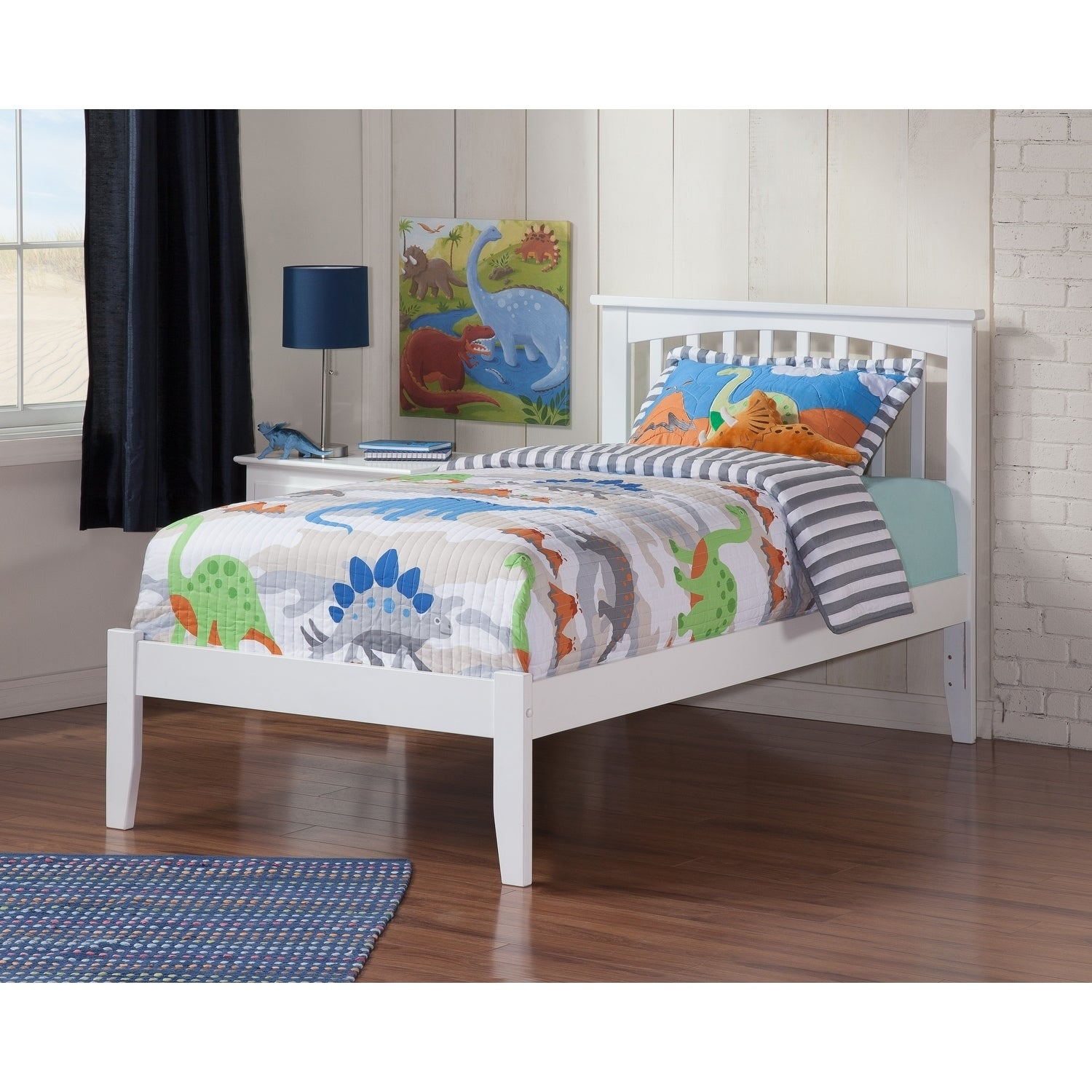 Atlantic Furniture Mission White Twin XL Open Foot Bed (S...