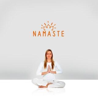 "Namaste Wall Decal - 24"" wide x 12"" tall"