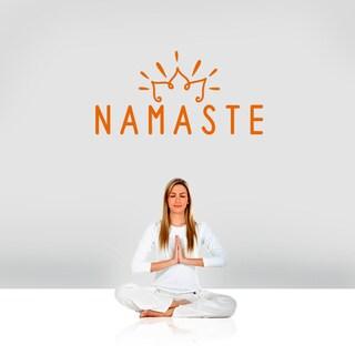 "Namaste Wall Decal - 36"" wide x 18"" tall"