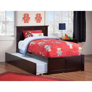 Madison Urban Espresso Finish Twin Flat Panel Foot Board Trundle Bed