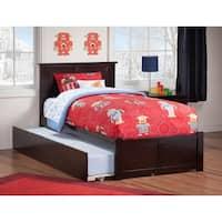 Madison Urban Espresso Finish Twin Flat Panel Foot Board Trundle Bed