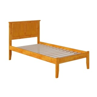 Madison Twin Caramel Latte Finish Open Foot Bed