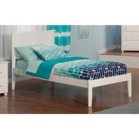 Atlantic 'Madison' White Open-foot Twin Bed