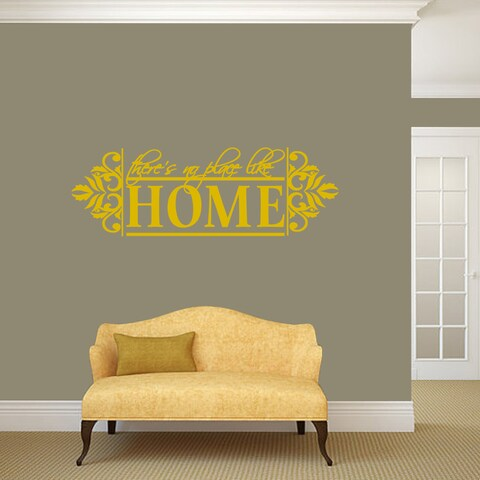 """No Place Like Home Wall Decal - 48"""" wide x 16"""" tall"""