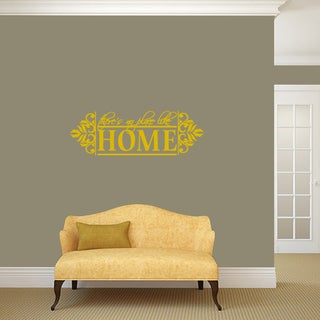 """No Place Like Home Wall Decal - 36"""" wide x 12"""" tall"""