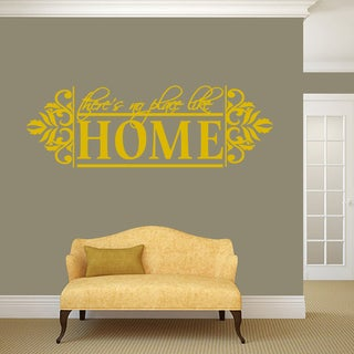"No Place Like Home Wall Decal - 60"" wide x 20"" tall"