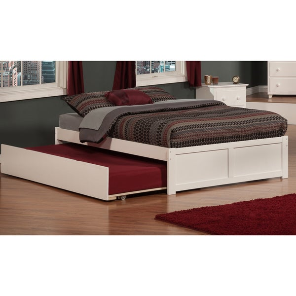 Atlantic kids 39 concord white full flat panel footboard for Urban home beds