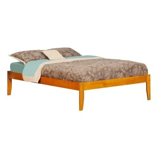 Atlantic Concord Brown Wood Full-size Open-foot Platform Bed