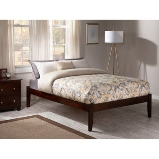 Concord Full Platform Bed with Open Foot Board in Walnut