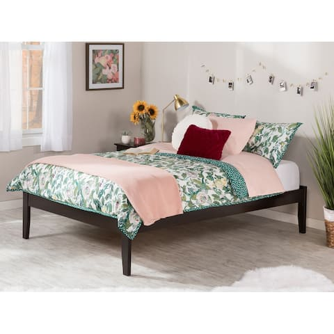 Concord Full Platform Bed with Open Foot Board in Espresso