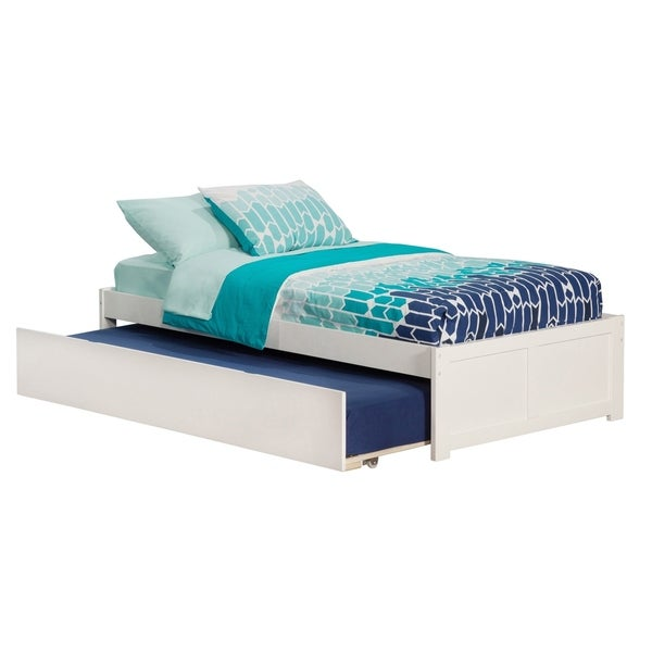 Atlantic Concord White Twin with Urban Trundle