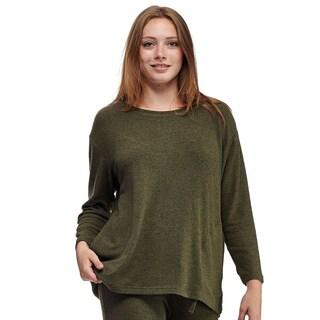 La Cera Women's Zip Pullover Top