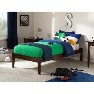 Atlantic Kids' Concord Walnut Twin XL Open Foot Platform Bed