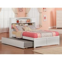 Atlantic Furniture Newport White Wood Flat-panel Footboard Full-size Bed with Urban Trundle