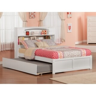 Newport Full Flat Panel Foot Board with Urban Trundle White