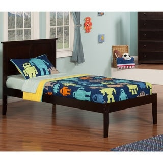 Atlantic Madison Espresso Twin XL Open-foot Platform Bed