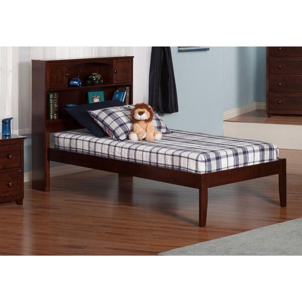 Newport Walnut Twin Open-foot Bed