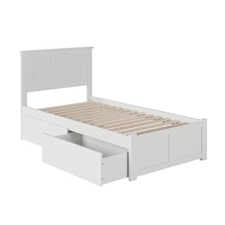 Atlantic Nantucket White Twin Flat-panel Footboard 2-Drawer Bed