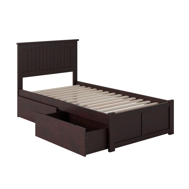 Atlantic Furniture Nantucket Espresso (Brown) Twin Flat P...