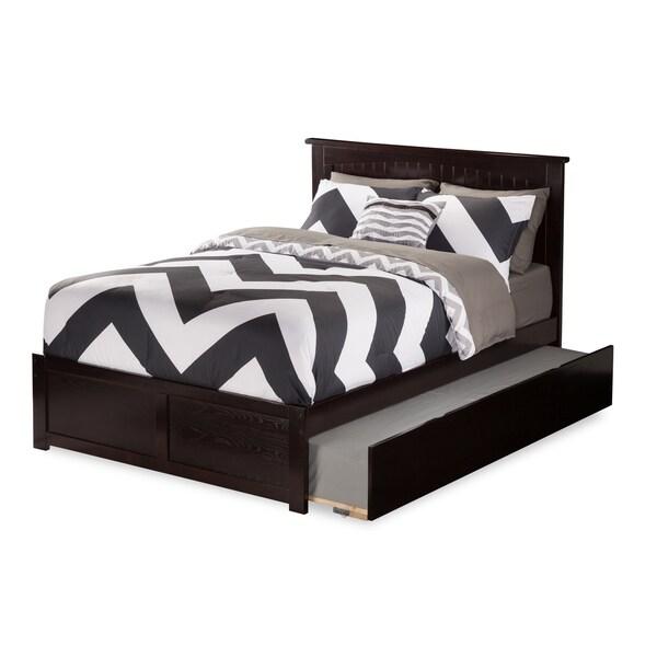 Atlantic Kids' Nantucket Espresso Full Flat-panel Footboard Platform Bed with Urban Trundle