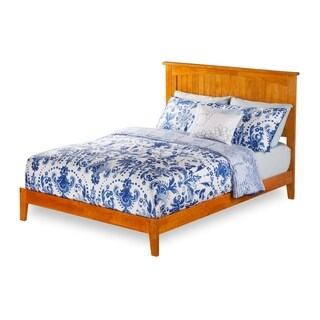 Nantucket Full Platform Bed with Open Foot Board in Caramel