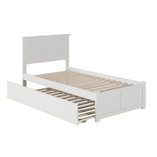 Atlantic Nantucket White Twin Flat-panel Footboard Trundle Bed