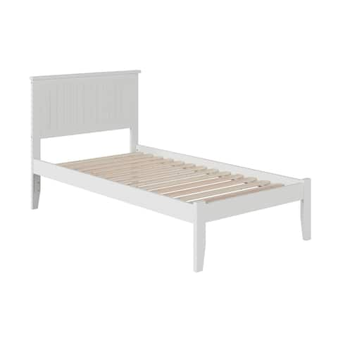 Nantucket Twin XL Platform Bed with Open Foot Board in White