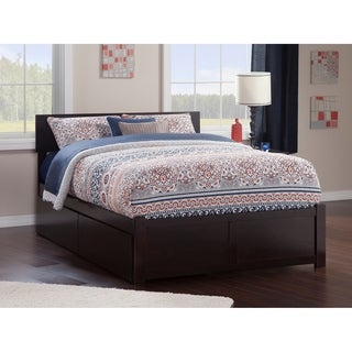 Orlando Full Flat Panel Foot Board with 2 Urban Bed Drawers Espresso