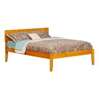 Orlando Full Platform Bed with Open Foot Board in Caramel