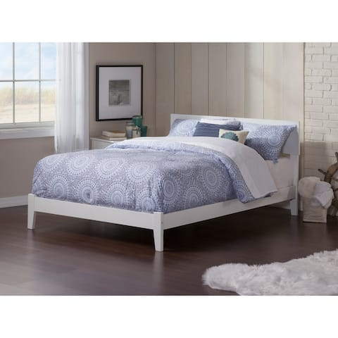 Orlando Full Platform Bed with Open Foot Board in White
