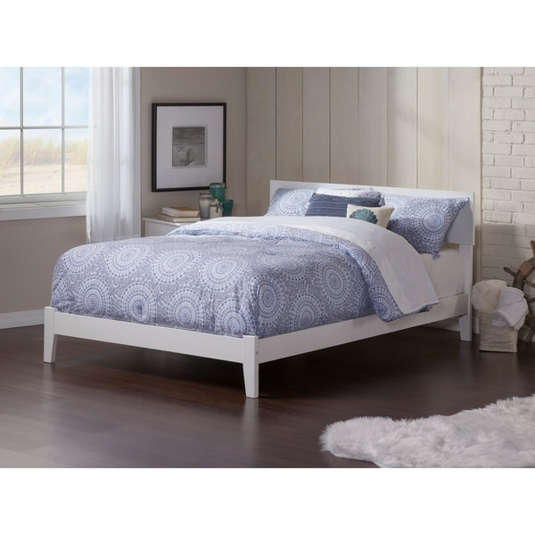 Orlando Full Platform Bed with Open Foot Board in White. Opens flyout.