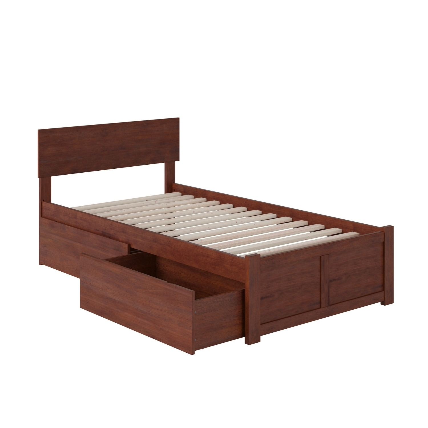 Atlantic Orlando Walnut (Brown) Twin-size Flat-panel Foot...