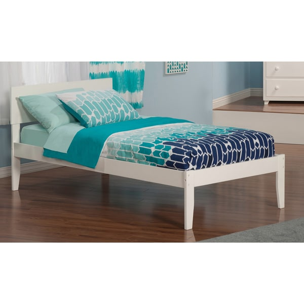 Orlando White Twin Open-foot Bed