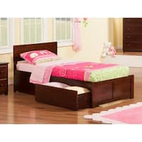 Atlantic Orlando Walnut Panel Twin XL Storage Bed