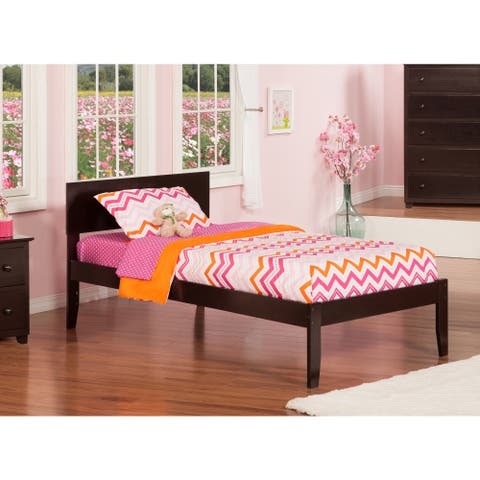 Orlando Espresso Wood Twin Open Foot Platform Bed